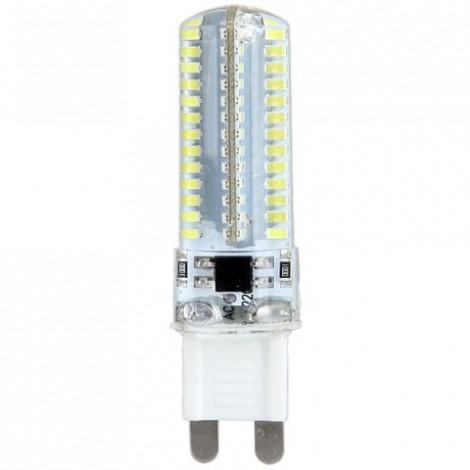 7W G9 600LM 3014 SMD 104-LED Mini Corn Bulb with White Light - AC 200-240V