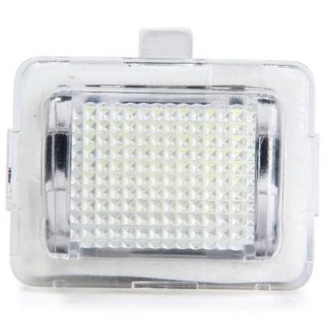 JHBK040 SMD 3528 White Light 18 LEDs License Plate Lamp for Benz W204 C207 W211 - 2pcs