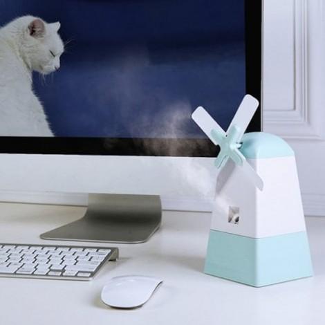 Mini Mist Diffuser Windmill Shape Fan Anion Humidifier For Office Home