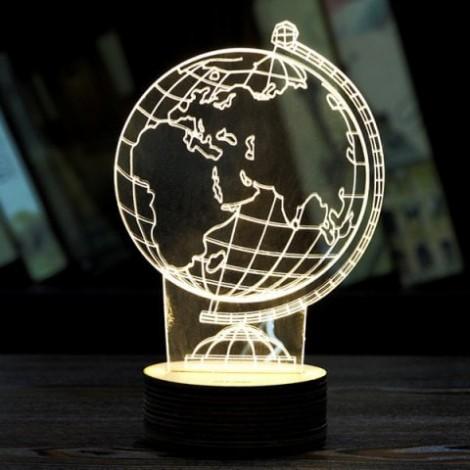 Novelty Home Decoration 3D Tellurion Design LED Night Light
