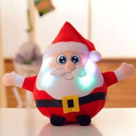 Christmas Gift Santa Singing Flash Plush Stuffed Doll