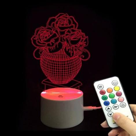 Rose Love Confession Valentine's Day Remote Control Night Light