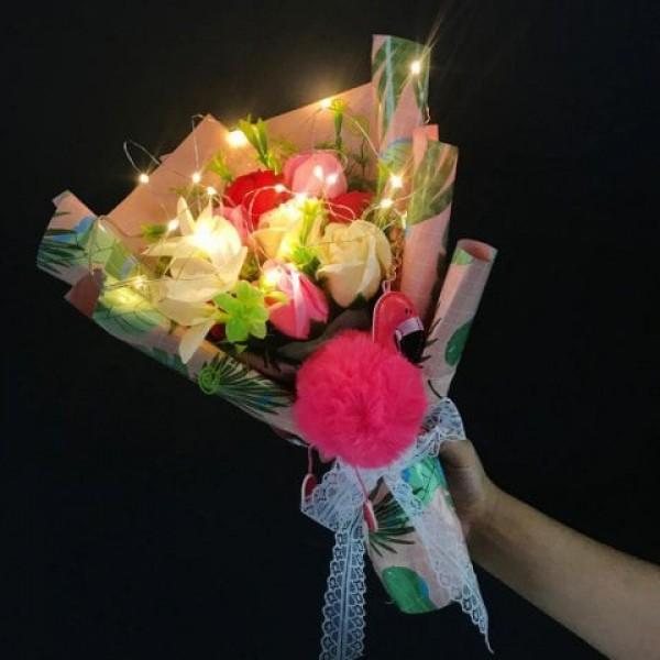 Handmade Soap Artificial Flower Bouquet ...