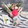 Handmade Soap Artificial Flower Bouquet LED Light Flamingo