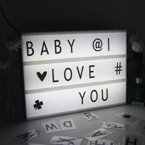 Valentine Birthday Gift Cinematic DIY Letters Light Box