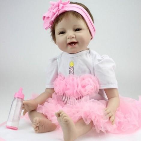 NPK Emulate Reborn Baby Smile Doll Stuffed Toy for Kids