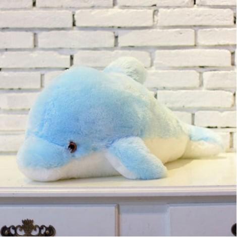 Colorful Luminous Dolphin Plush Doll Toy Stuffed Flashing Cushion Pillow Gift