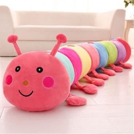 Colorful Caterpillar Plush Toy Sleeping Long Pillow Doll Ragdoll Child Female Birthday Gift