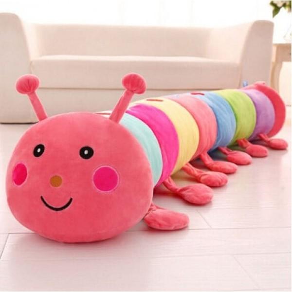 Colorful Caterpillar Plush Toy Sleeping ...