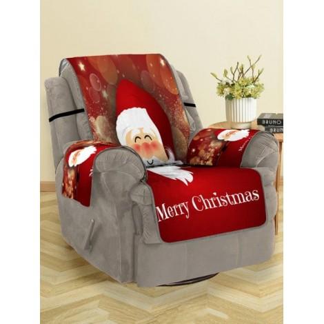 Christmas Santa Claus Pattern Sofa Cover