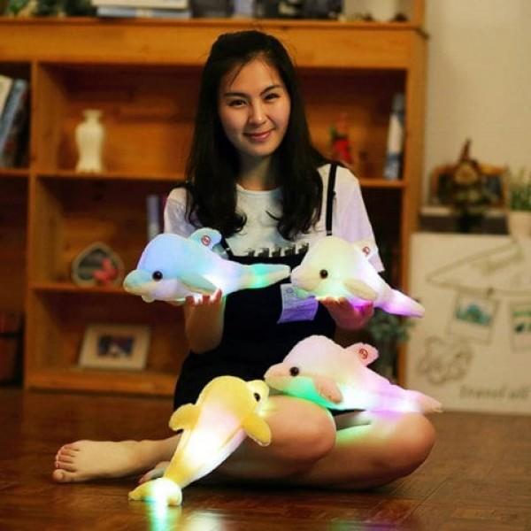 Creative Luminous Plush Dolphin Doll ...