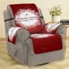 3D Digital Printed Christmas Snowflake Patterned Sofa Cushion Sofa Cover