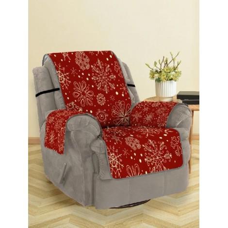 Christmas Snowflake Pattern Sofa Cover