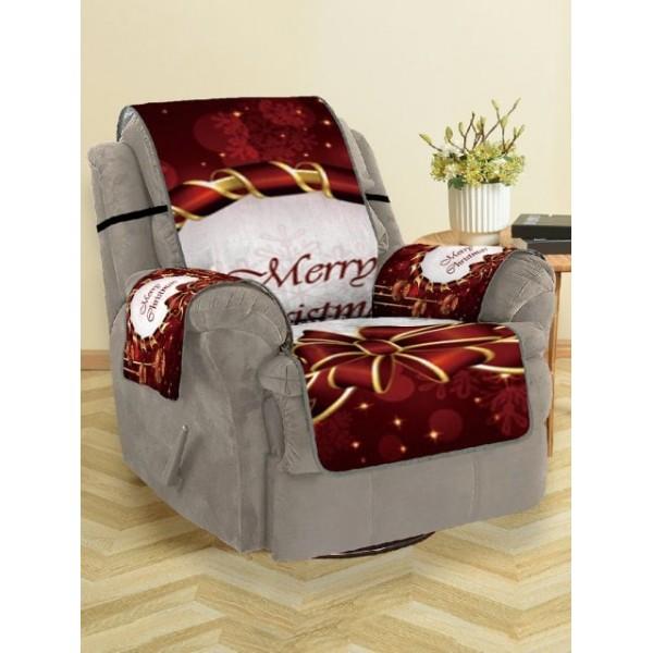 Christmas Bowknot Baubles Printed Sofa ...