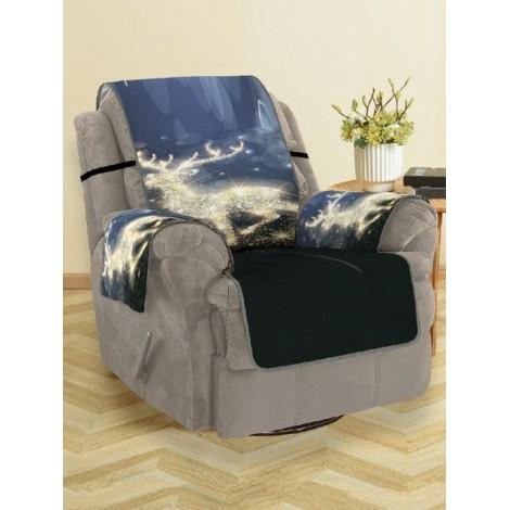 Christmas Elk Pattern Sofa Cover