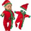 Simulation Doll Christmas Clothes Set
