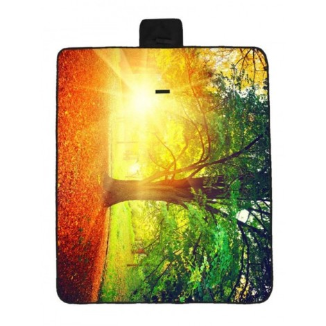 Sunset Tree Print Waterproof Picnic Blanket