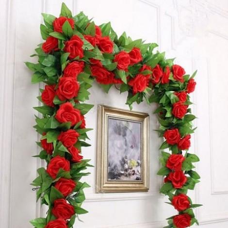 Simulation Home Decoration Flower Vine 2.4m
