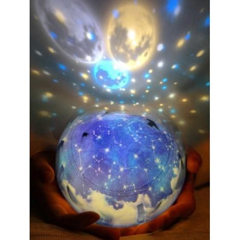 Color Magic Drill Projector Fantasy Universe Star Smart Rotating USB LED Night Light